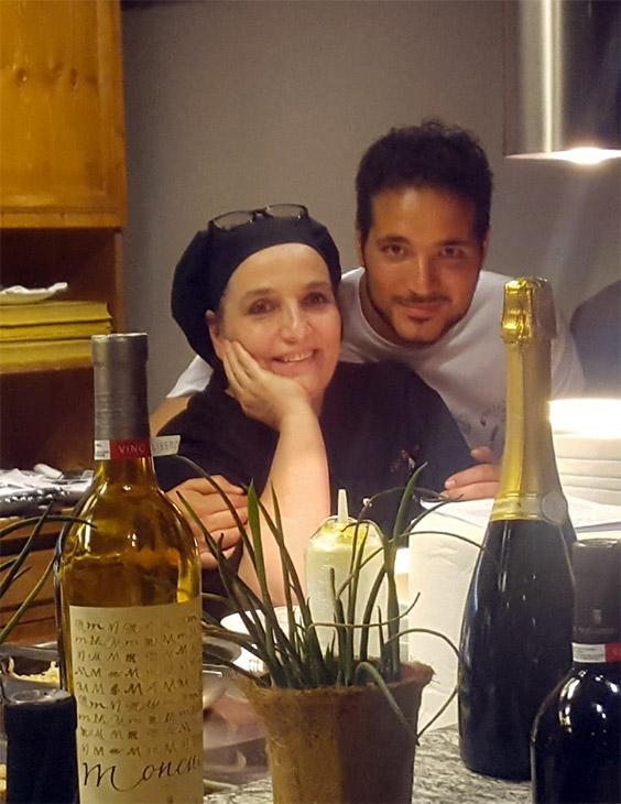 La chef con il figlio Marco
