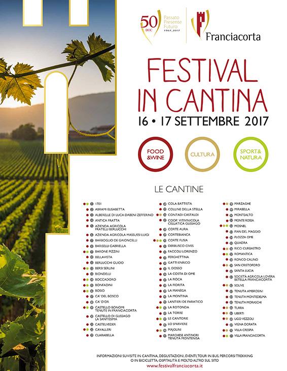 La locandina del Festival in Cantina