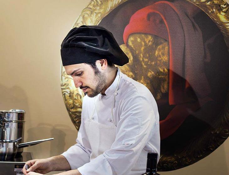 Carlo Costanza in cucina