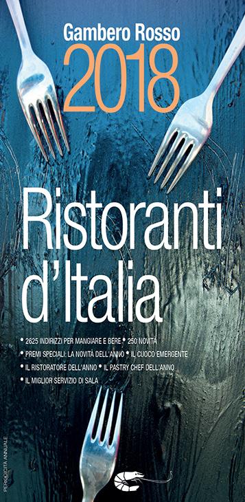 La copertina dei Ristoranti d'Italia 2018 del Gambero Rosso