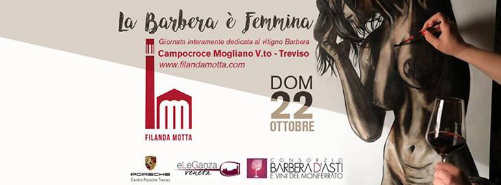 Il logo dell'evento La Barbera è femmina