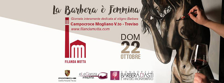 Il logo dell'evento La Barbera è femmina