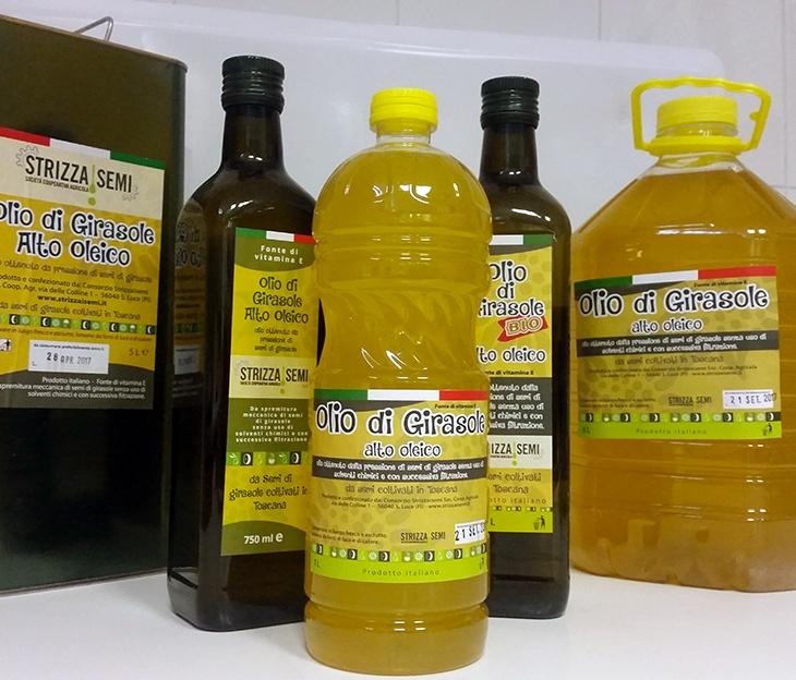 L'olio di semi di girasole alto oleico Strizzaisemi