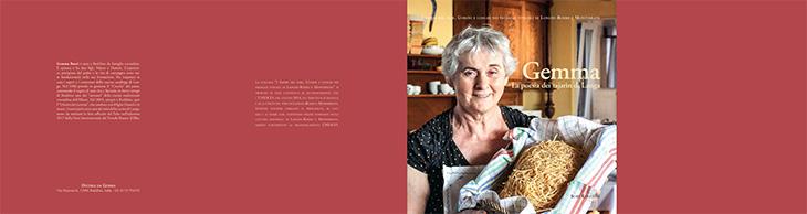 """La copertina del libro """"Gemma, La poesia dei tajarin di Langa"""" (Sorì Edizioni)"""