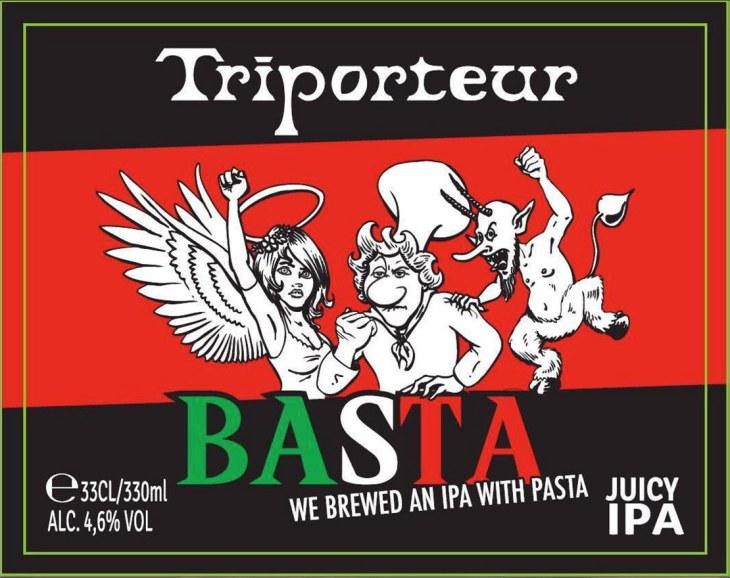 L'etichetta della birra Basta
