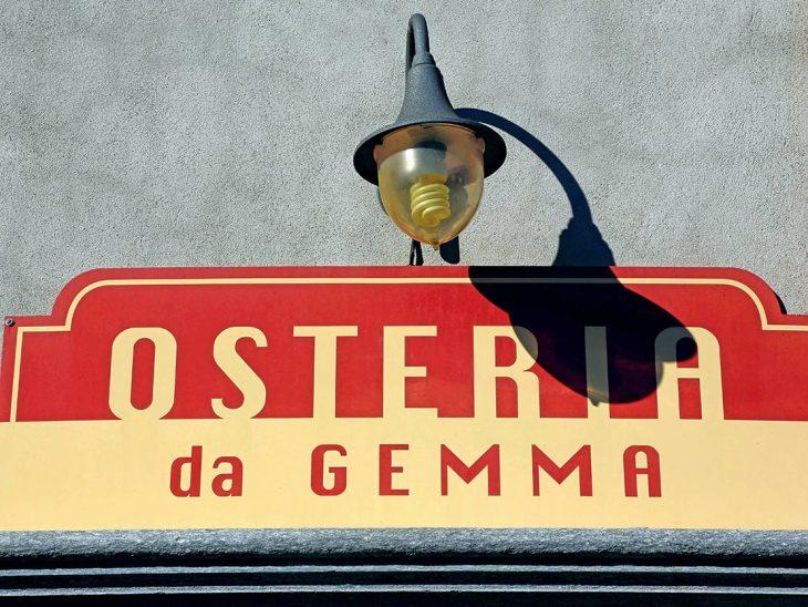 L'insegna dell'Osteria da Gemma