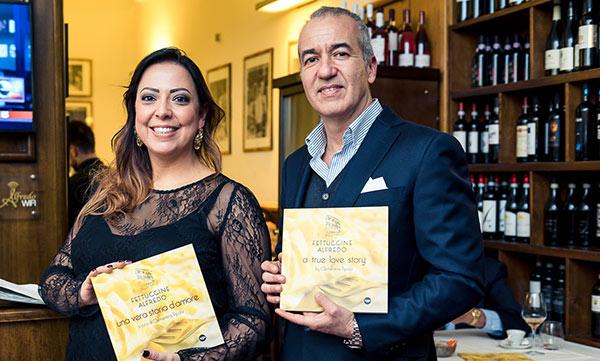 Veronica Salvatori e Mario Mozzetti del ristorante romano Alfredo alla Scrofa