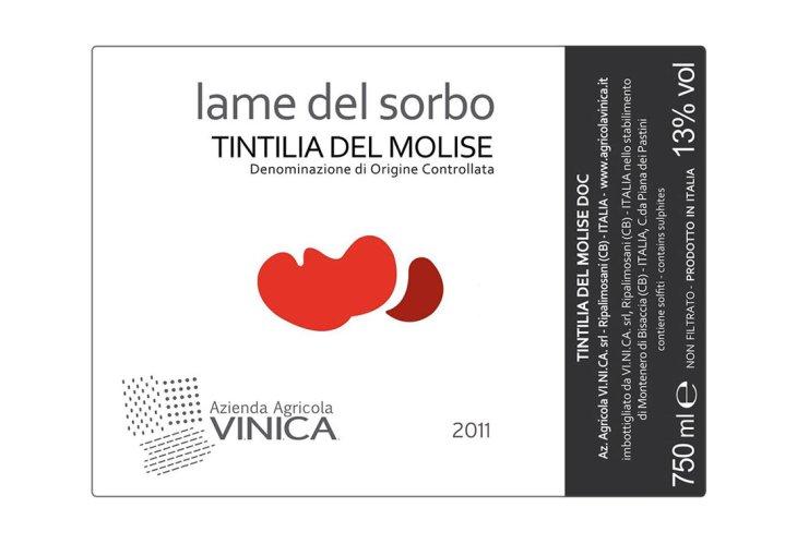 Etichetta del Lame del Sorbo Tintilia del Molise Doc Vinica 2011