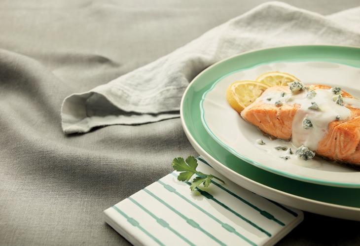 Salmone scottato con Gorgonzola Dop Piccante