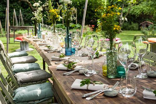 La tavola di primavera al Ristorante Gardenia