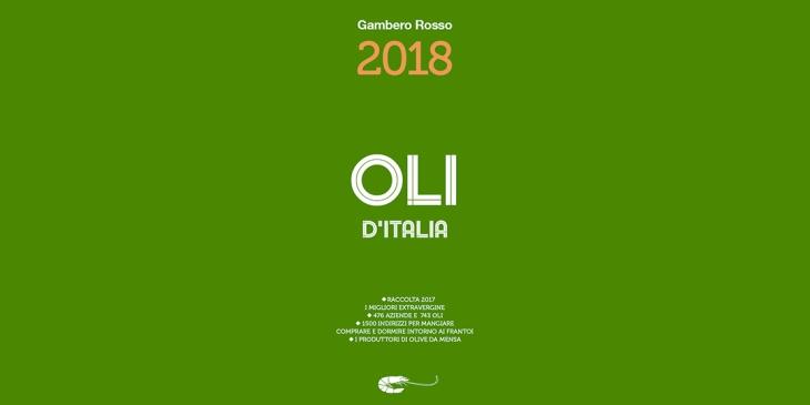 La copertina della guida Oli d'Italia 2018 del Gambero Rosso