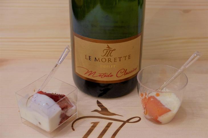 Etichetta del Le Morette Metodo Classico Brut