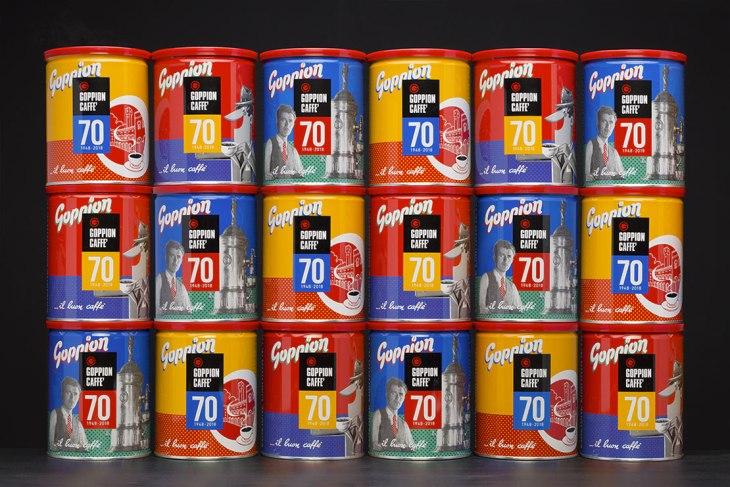 Le latte limited edition per i 70 anni della Goppion Caffè
