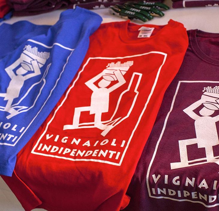 Le variopinte magliette dei Vignaioli Indipendenti