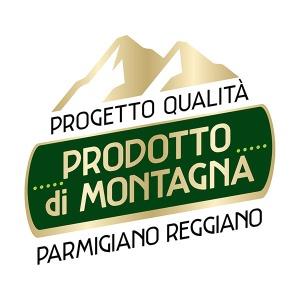 Il logo del Progetto Qualità Parmigiano Reggiano Prodotto di Montagna