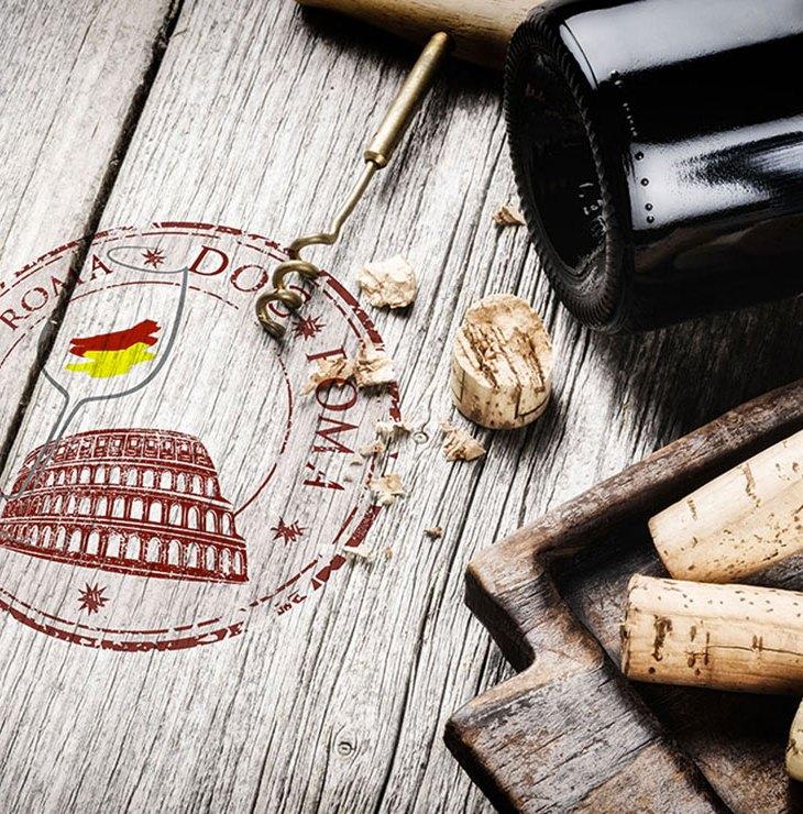 Tavolo con il marchio della Doc Roma