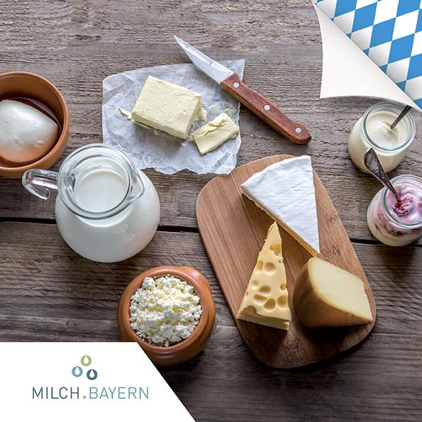 Tutti i deliziosi prodotti di Milch.Bayern