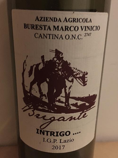 L'etichetta dell'Intrigo …Lazio 2017