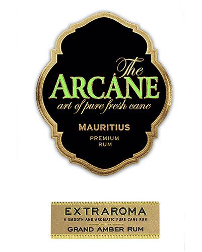 Etichetta del Rum Arcane Extraroma