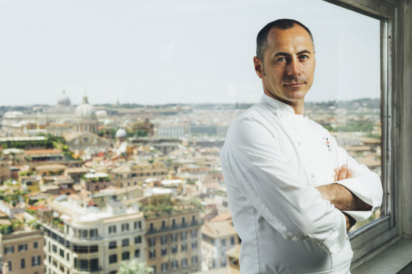 Lo chef Francesco Apreda dell'Imàgo Hotel Hassler