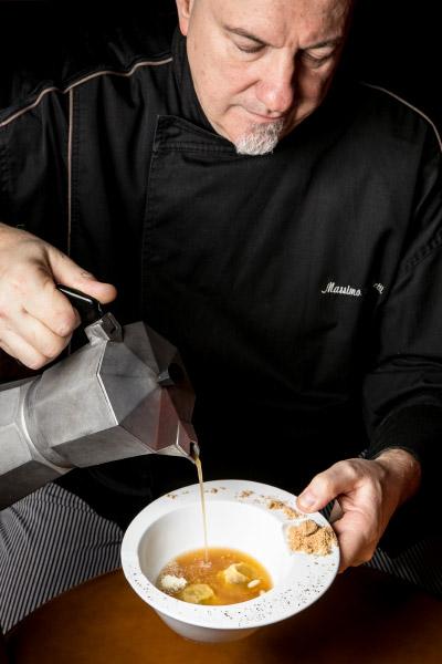 Lo chef Massimo Viglietti dell'Enoteca Achilli al Parlamento