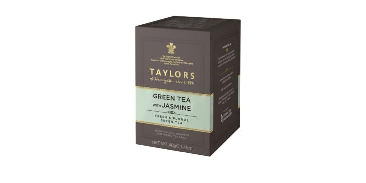 L'elegante scatola del Taylors Green Tea Jasmine