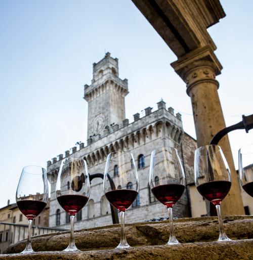 Calici di Vino Nobile di Montepulciano