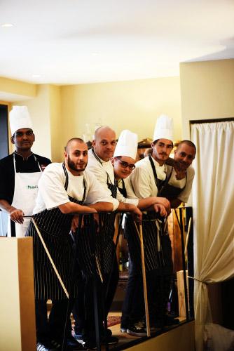 La brigata dello chef Andrea Viola