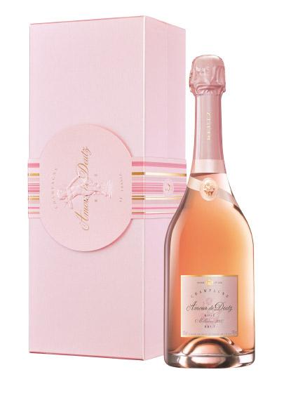 La confezione e la bottiglia di Amour de Deutz Rosé 2007