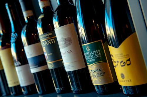 Alcuni dei vini proposti da Le Bollicine di Sara Bistrot