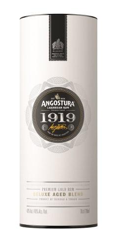 L'elegante astuccio dell'Aged Rum 1919 Angostura