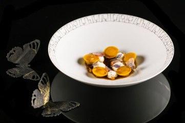 Uno dei celebri piatti di Francesco Apreda