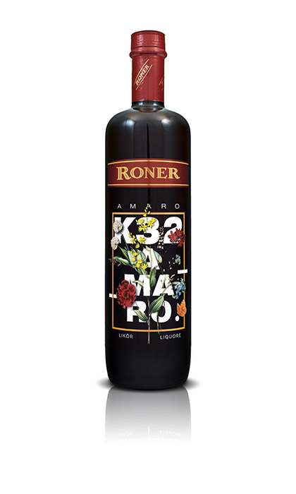 Bottiglia dell'amaro K32 Roner