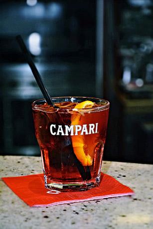 Il marchio Campari sul cocktail Negroni