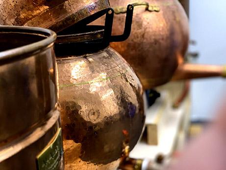 Recipienti in rame per distillati