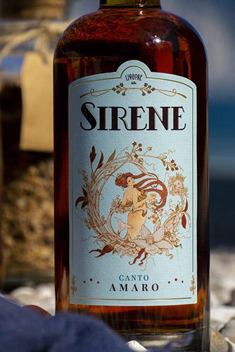 La Sirena del Canto Amaro in etichetta