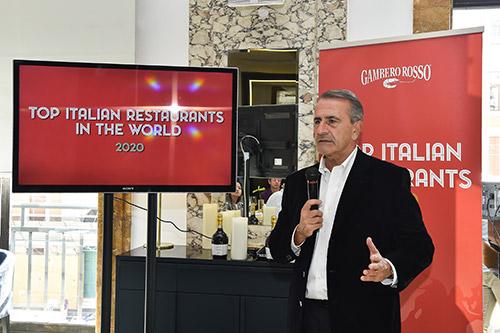 Paolo Cuccia, Presidente Gambero Rosso, presenta la guida Top Italian Restaurants 2020