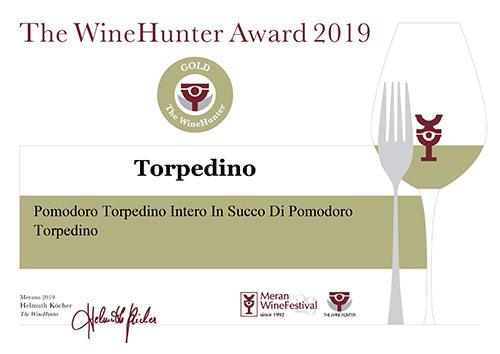 Il WineHunter Award Gold al Pomodoro Torpedino
