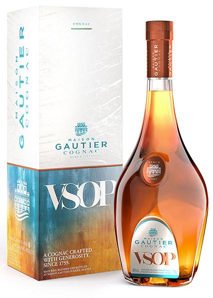 Bottiglia e scatola del Cognac Gautier VSOP 40°