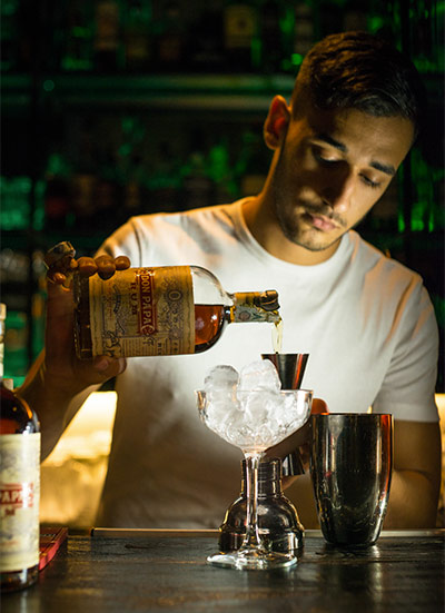 Rhum Don Papa Cask Finish usato per un cocktail