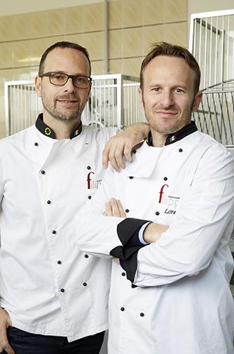I fratelli Filippi, Andrea e Lorenzo, titolari dell'omonima pasticceria