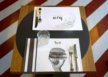 Tavolo apparecchiato al B.Ro - Birra Burger Roma