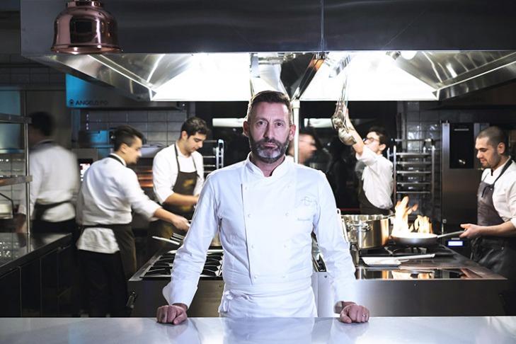 """Lo chef Fabrizio Albini del """"Bianca sul Lago"""" di Oggiono (Lecco)"""