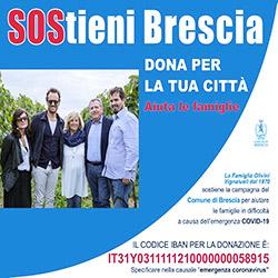 Locandina per sostenere Brescia