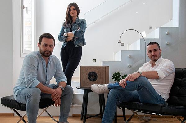 Alessio Maccione, Cesare Zavattaro e Sabrina Sinigaglia, team di The Gin Way