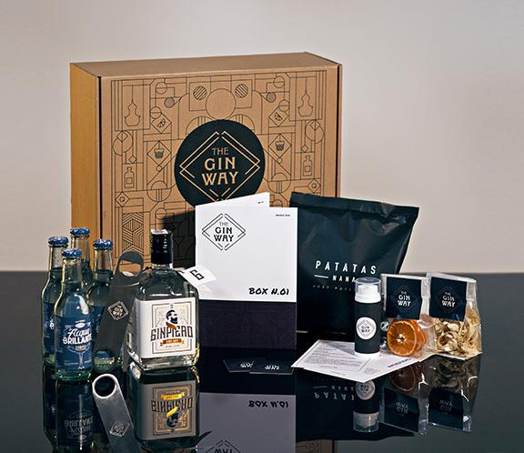 Il contenuto della mysteri box The Gin Way