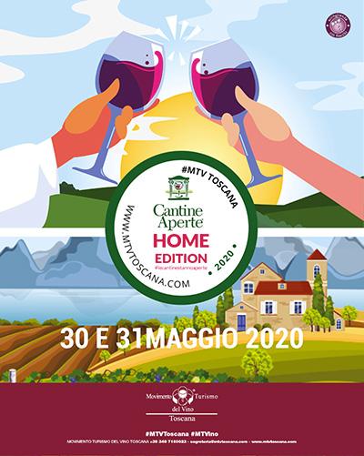 La Locandina di Cantine Aperte Home Edition 2020