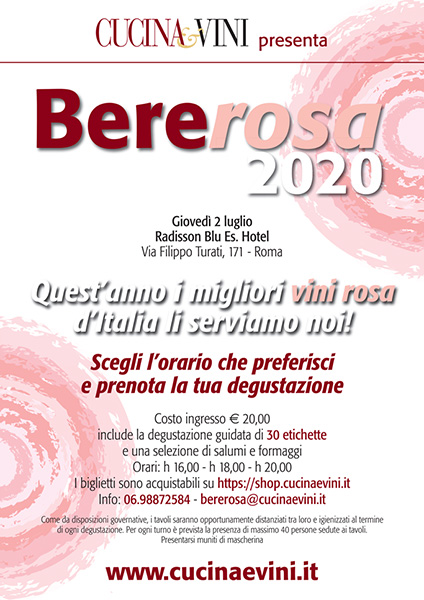 La locandina del Bere Rosa 2020