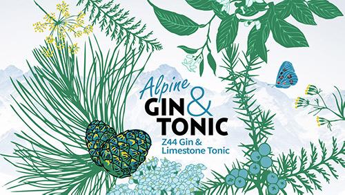 Rappresentazione grafica dell'Alpine Gin&Tonic Roner