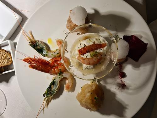 Il Crudo misto di pesce e crostacei all'Acqua Pazza di Gino Pesce